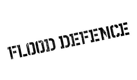 Flood Defence rubber stamp
