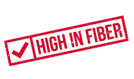 digestive: High In Fiber rubber stamp
