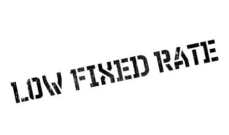 Low Fixed Rate rubber stamp Ilustração
