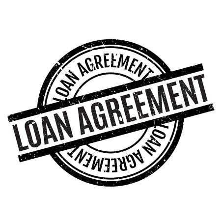 Loan Agreement rubber stamp Ilustração