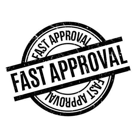 Fast Approval rubber stamp Illustration