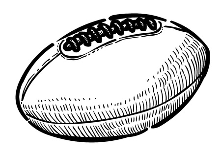 sign post: Cartoon image of Rugby ball