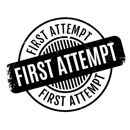 conclusive: First Attempt rubber stamp Stock Photo