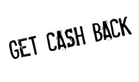 Get Cash Back rubber stamp Stock Photo
