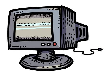 led display: Cartoon image of Monitor Icon. Computer, PC symbol