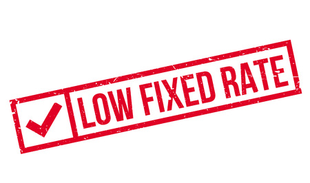 Low Fixed Rate rubber stamp