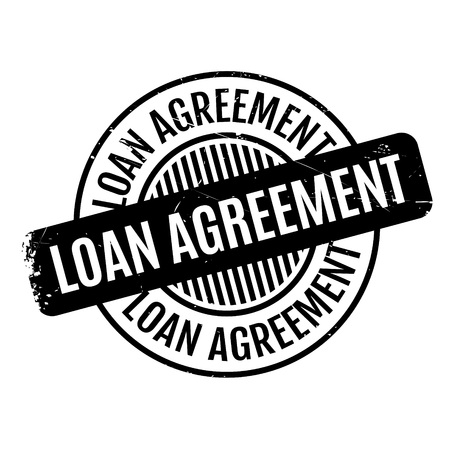 Loan Agreement rubber stamp Illustration