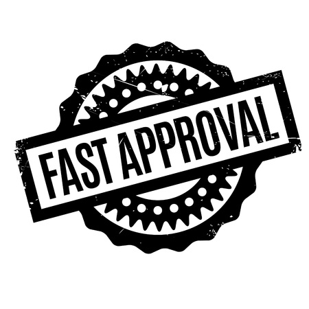 nimble: Fast Approval rubber stamp Illustration