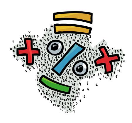 Cartoon image of Math Stock Photo