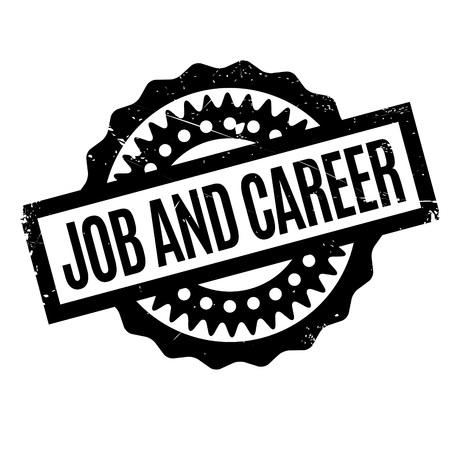 Job and Career sello de goma Foto de archivo - 79004505