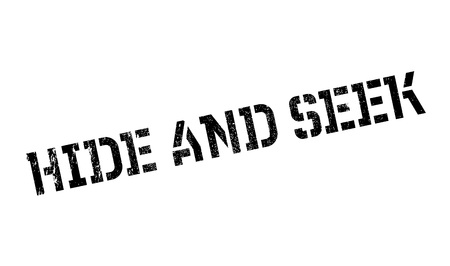 Hide And Seek rubber stamp