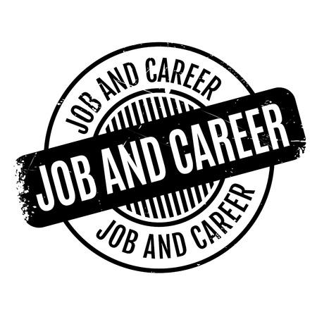 Job and Career sello de goma Foto de archivo - 79004522