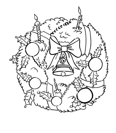 Cartoon image of christmas decoration