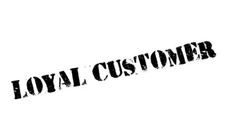 patron: Loyal Customer rubber stamp
