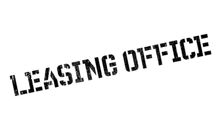 sign post: Leasing Office rubber stamp Stock Photo
