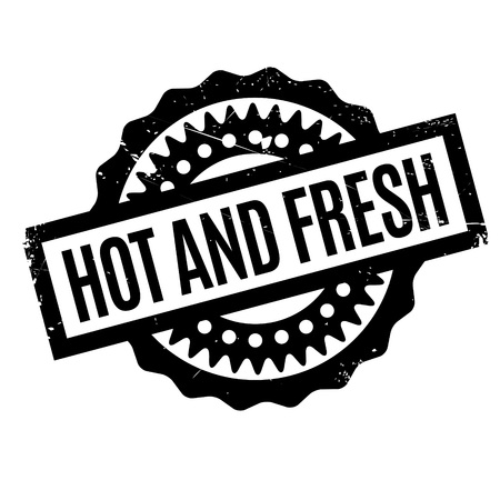 Hot And Fresh rubber stamp