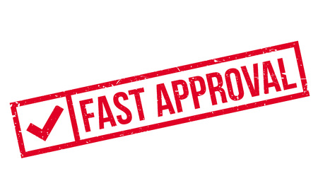 Fast Approval rubber stamp 일러스트