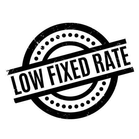 settled: Low Fixed Rate rubber stamp Illustration