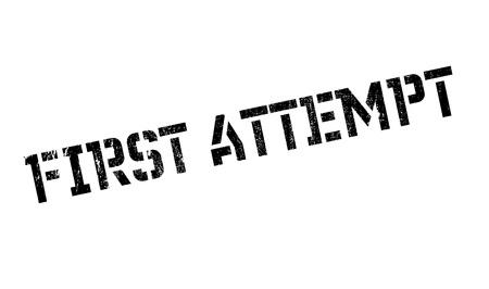 First Attempt rubber stamp Çizim
