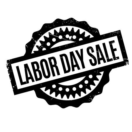 Labor Day Sale rubber stamp Illustration