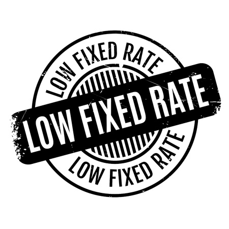Low Fixed Rate rubber stamp Illustration
