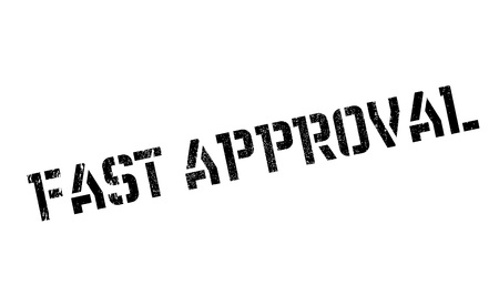 racing: Fast Approval rubber stamp Illustration