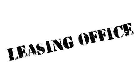 sign post: Leasing Office rubber stamp Illustration