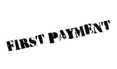 First Payment rubber stamp