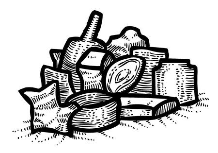 Cartoon image of Garbage symbol