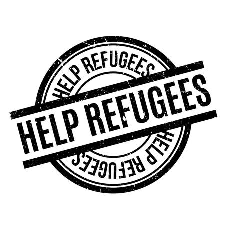 Help Refugees rubber stamp Çizim