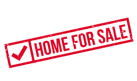 Home For Sale rubber stamp