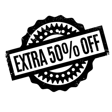 spare: Extra 50 Off rubber stamp