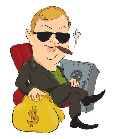 Cartoon image of businessman Stock Photo
