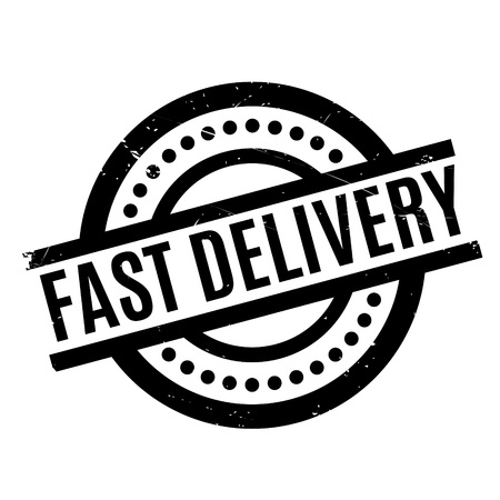 sign post: Fast Delivery rubber stamp