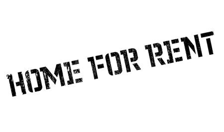 Home For Rent rubber stamp