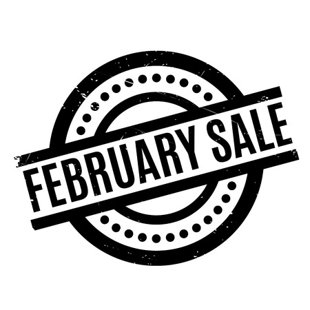 February Sale rubber stamp