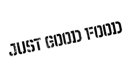 marvelous: Just Good Food rubber stamp