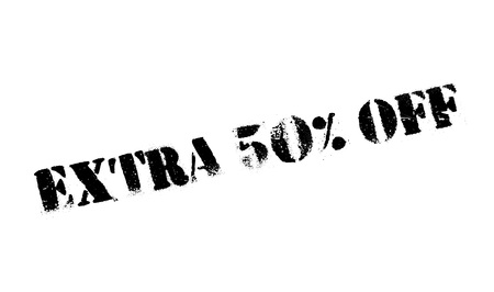 Extra 50 Off rubber stamp