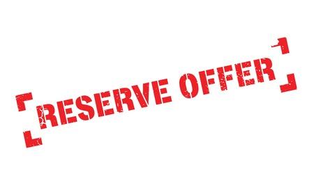action fund: Reserve Offer rubber stamp