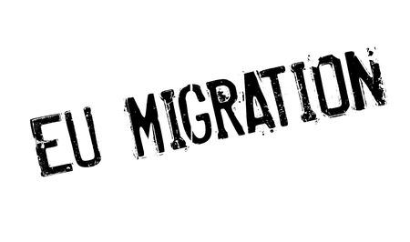migrating: Eu Migration rubber stamp