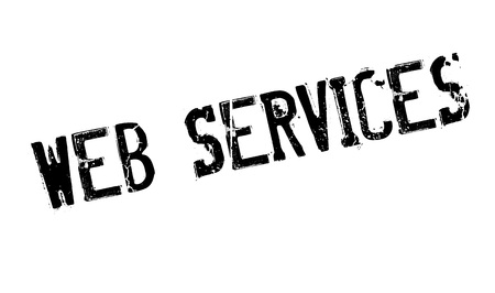 uploading: Web Services rubber stamp Illustration