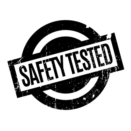 Safety Tested rubber stamp Ilustrace