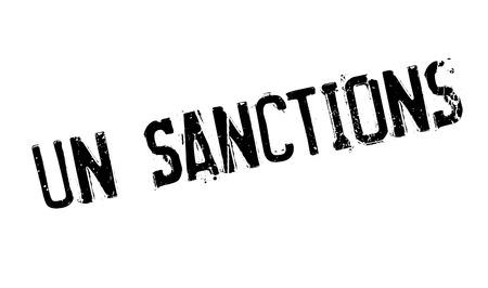 Un Sanctions rubber stamp Reklamní fotografie