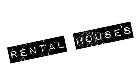 Rental Houses rubber stamp Ilustração