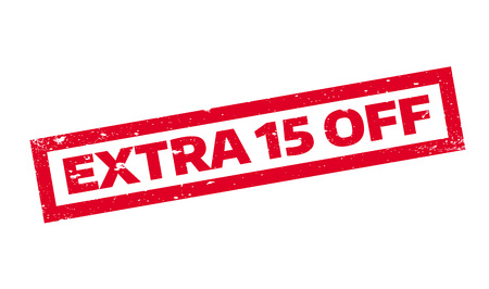 Extra 15 Off rubber stamp