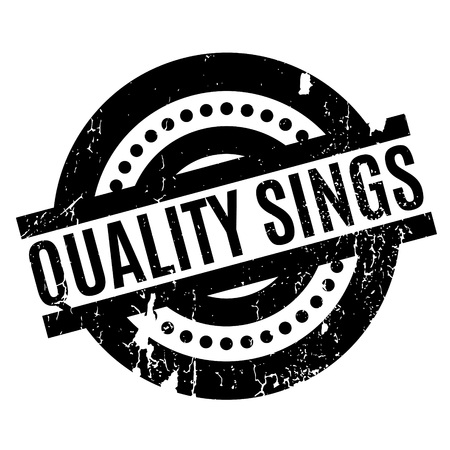Quality Sings rubber stamp Stock Vector - 81319316