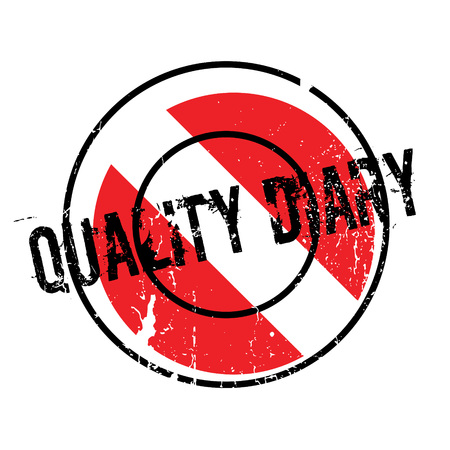 chronicle: Quality Diary rubber stamp