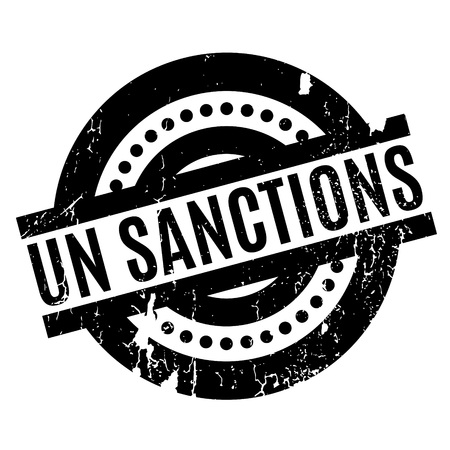 Un Sanctions rubber stamp Stock Vector - 81319273