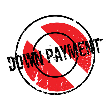 Down Payment rubber stamp Stock Photo