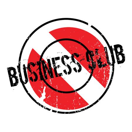 a cudgel: Business Club rubber stamp